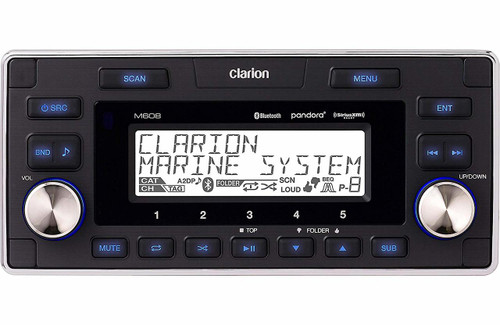 Clarion M608 Marine Blutooth// USB/ MP3/ WMA Reciver