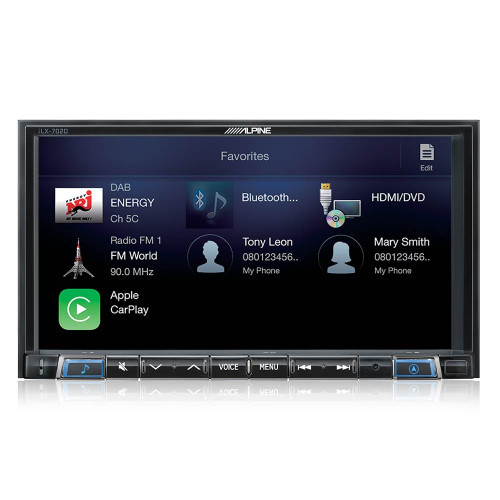 Alpine iLX-702D 7-Inch In-Dash Receiver with DAB+, Apple CarPlay & Android Auto BONUS REVERSE CAMERA