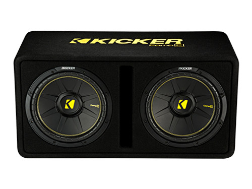 "Kicker DCWC122 Dual 12"" CompC 2 Ohm Enclosure"