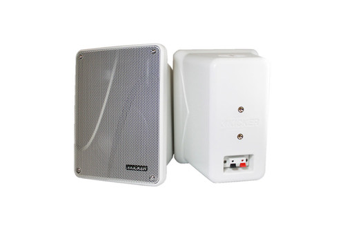"Kicker KB6000 White 6-1/2"" Full-Range Enclosed Indoor/Outdoor Speakers"