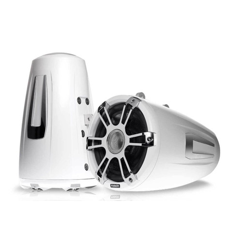 "Fusion  SG-FT88SPWC 8.8"" Tower Speaker Pair - White / Chrome"