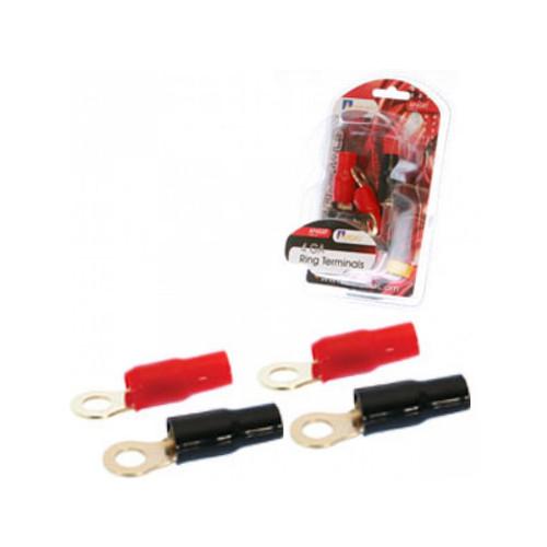 Aerpro  AP4GRT 4 GA Ring Terminals 2 Red/2 Black