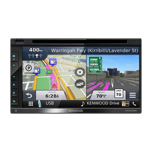 """Kenwood  DNX5180S 6.8"""" In Dash Navigation System With Apple CarPlay"""