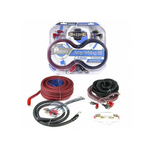 Aerpro BSX204 4GA 2 Channel amp install kit