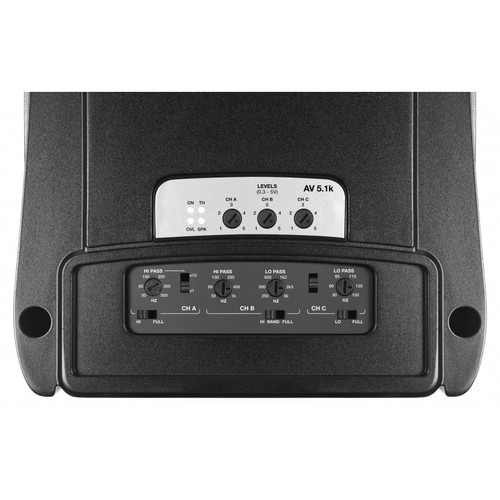 Audison AV5.1K 5 CH Amp 2x75W, 2x140W, 1x1000W