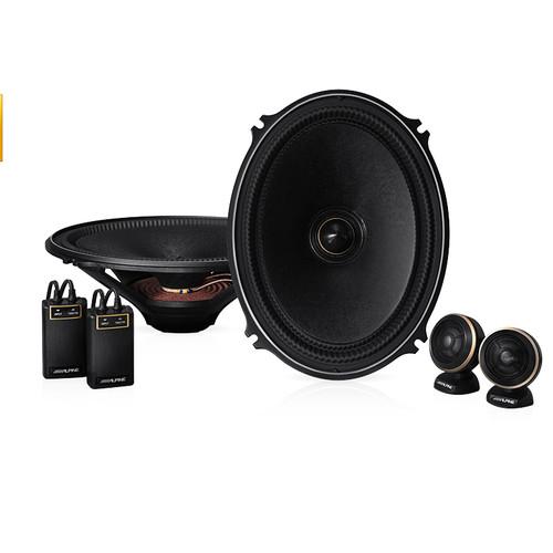 Alpine X-710S X-Premium Sound 7 x 10″ Component Speakers