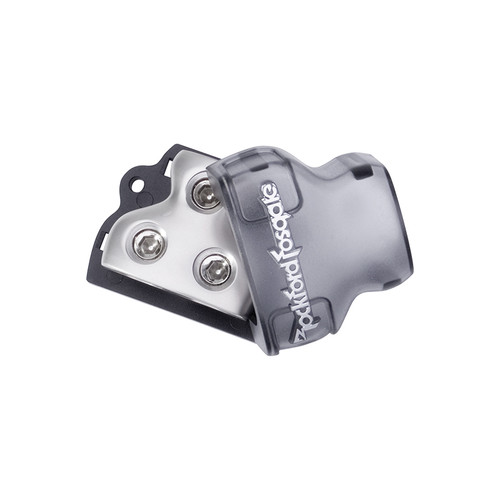 Rockford Fosgate RFD1  1/0 AWG distribution block with 1 input and 2 outputs