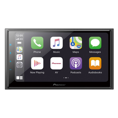"""Pioneer DMH-Z6350BT 6.8″ Capacitive Touch-screen """"Short Chassis Multimedia Alexa Built-in/ Wireless Apple CarPlay/ Android Auto"""