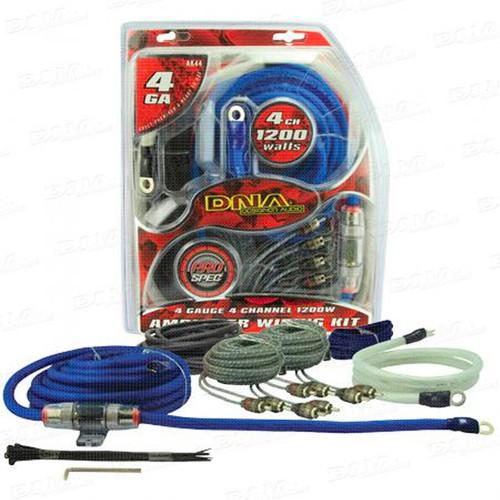 DNA AK44 4 Gauge 4 Channel 1200W Amplifier Kit
