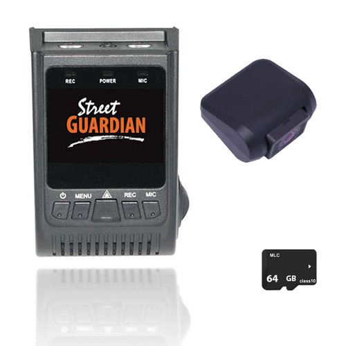 Street Guardian SGGCX2PRO 2 CH Dash Camera 1080p With 64GB Memory Card and 323 Rear Cam