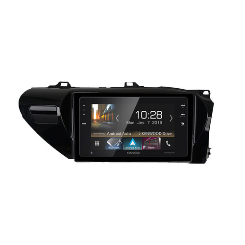 """Kenwood DMX820WXS Touch screen Media Receiver  with 8"""" WVGA Display, Apple Carplay, Android Auto and SK-AP820HL Hilux Fascia"""