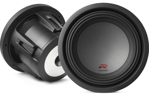 """Alpine R-W10D4 R-Series 10"""" subwoofer with dual 4-ohm voice coils"""