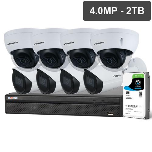 Watchguard NVRKIT-C842F Compact Series 8 Camera 4.0MP IP Surveillance Kit (Fixed, 2TB)