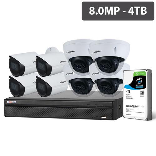 Watchguard NVRKIT-C884F Compact Series 8 Camera 8.0MP IP Surveillance Kit (Fixed, 4TB)