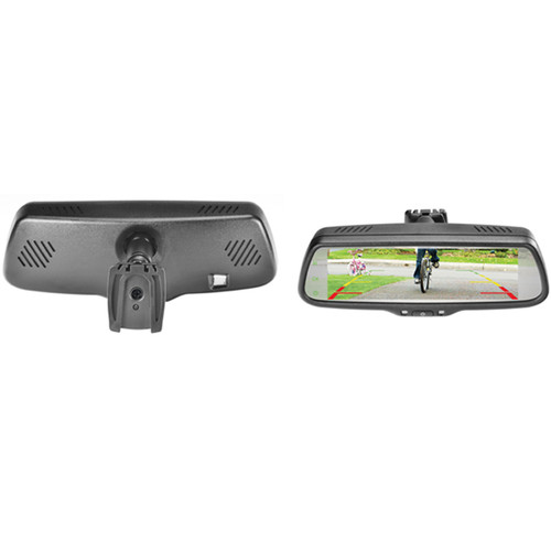 """Parkmate RVM-073A Massive 7.3"""" Widescreen RearView Mirror With Removable Bracket"""