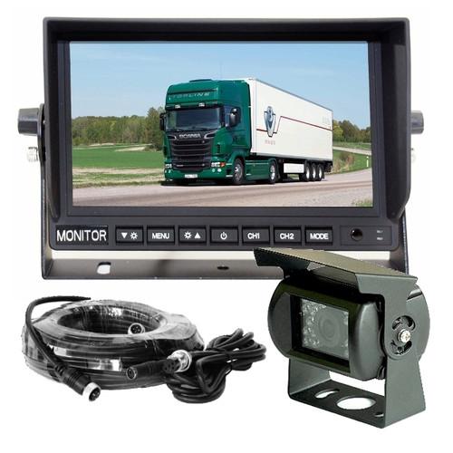 The MCK712 is a complete 12~24volt reversing camera system suitable for larger vehicles. Ideal for trucks, buses, campervans or mobile homes