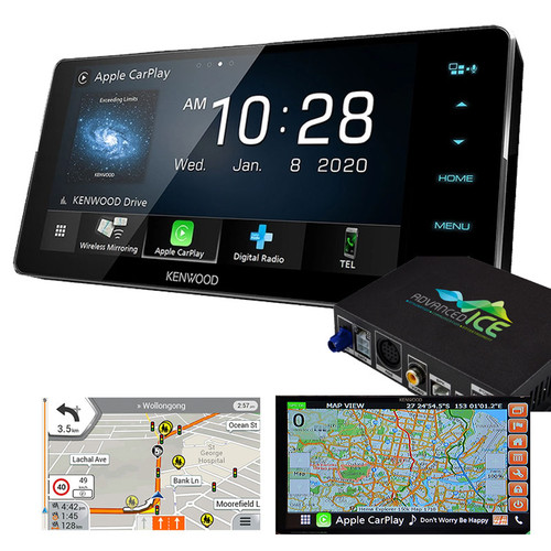 Kenwood DDX920WDABS AV Receiver with HEMA 4WD Navigation and Wireless Android Auto Apple Carplay