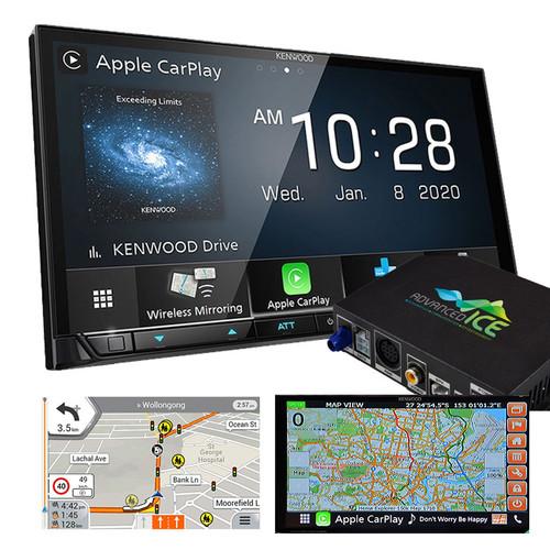 Kenwood DMX8520DABS AV Receiver with HEMA 4WD Navigation Wireless Android Auto Apple Carplay