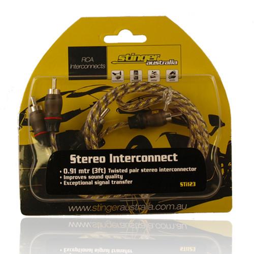 Stinger Australia STI123 2 Channel 3ft RCA Lead