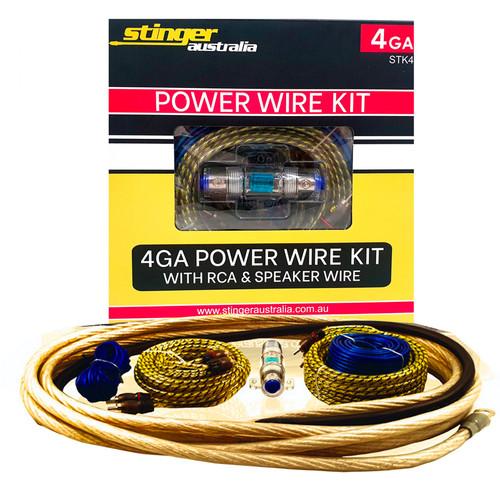 Stinger Australia STK4 4GA Amplifier Wiring Kit