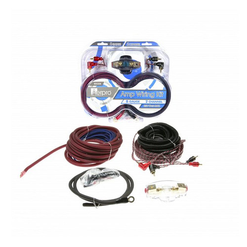 Aerpro BSX208 8GA 2 channel amp install kit