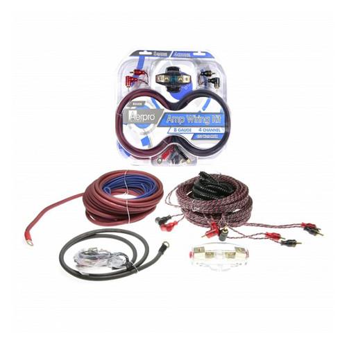 Aerpro BSX408 8GA 4 Channel Amp install kit