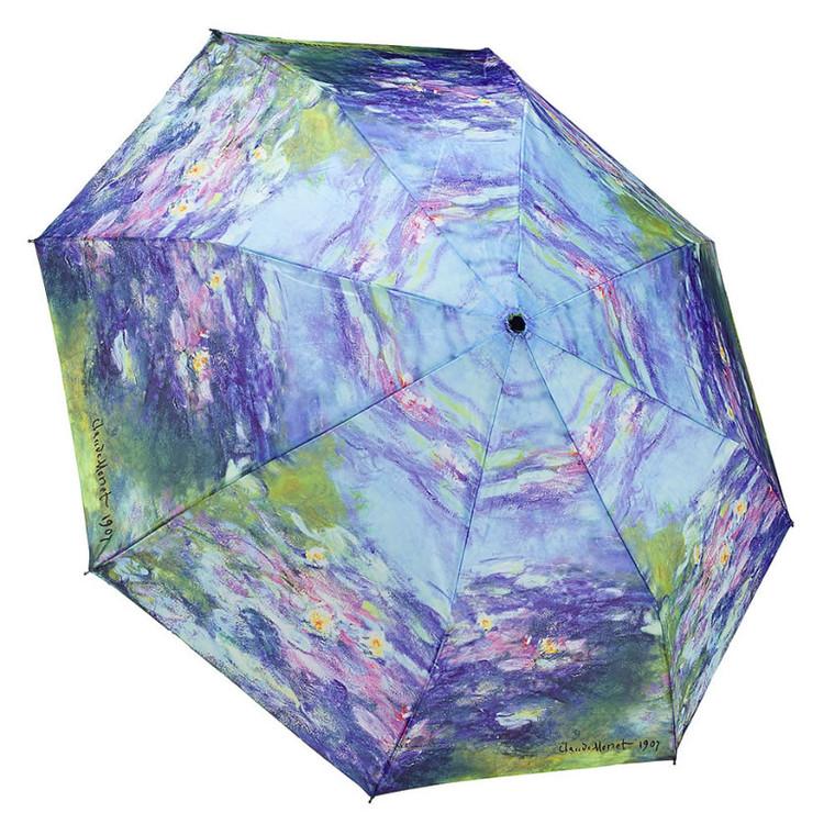 "Galleria Folding 48"" Umbrella - Monet's Water Lillies"