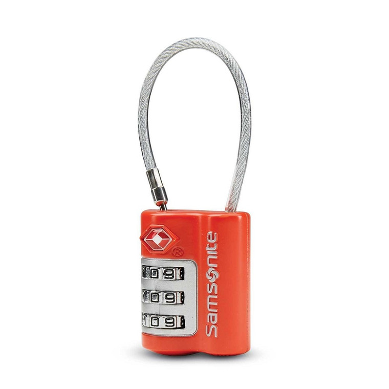 Samsonite 3-Dial TSA Cable Lock - Varsity  Red