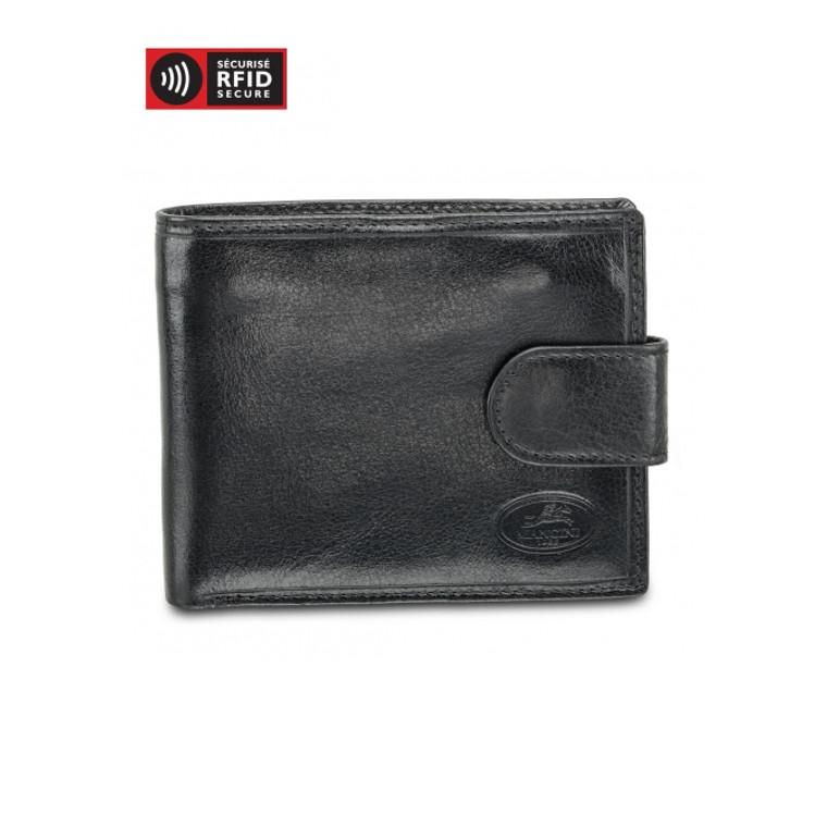 Mancini Equestrian 2 - Deluxe Men's Wallet w/ Coin Pocket (RFID) - Black
