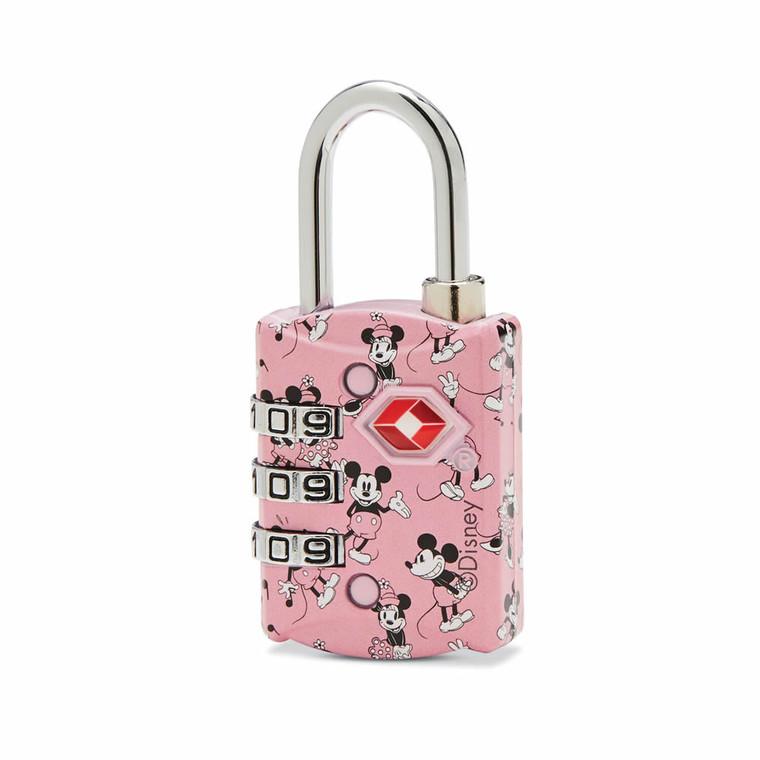 American Tourister Disney 3-Dial Combo Lock - Mickey/Minnie Kiss