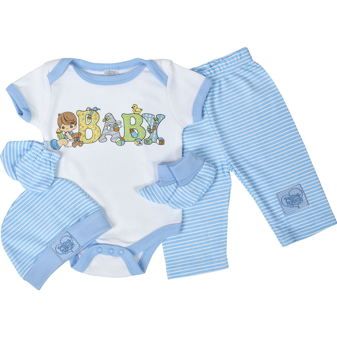 0 3 Months Sweet Dreams Boys 5 Piece Layette Gift Set 1
