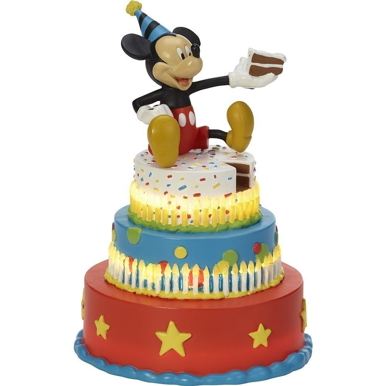 Magnificent Disney Showcase Mickey Mouse Birthday Cake Led Tabletop Figurine Funny Birthday Cards Online Fluifree Goldxyz