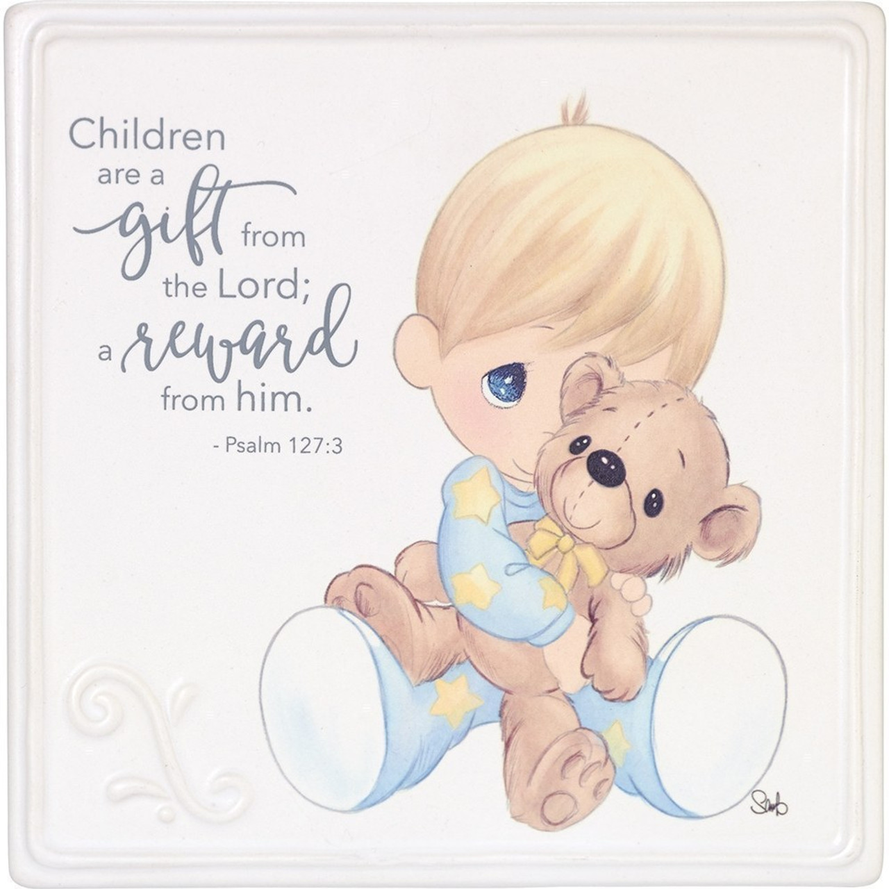 Baby Gifts Children Are A Gift Ceramic Wall Décor Or Tabletop Plaque 185053