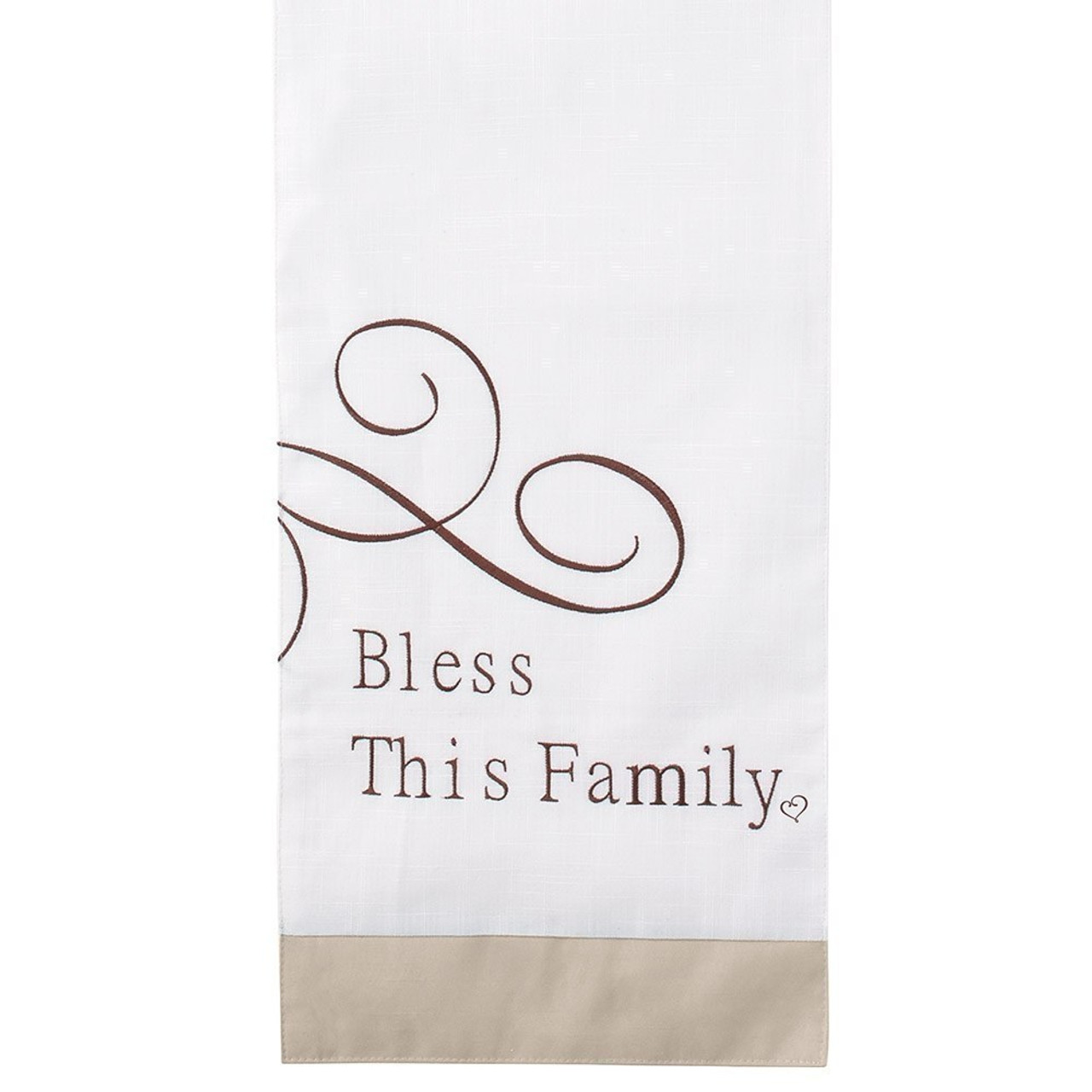 Bountiful Blessings Bless This Family Table Runner 72 X 13 Inches Polyester 182420