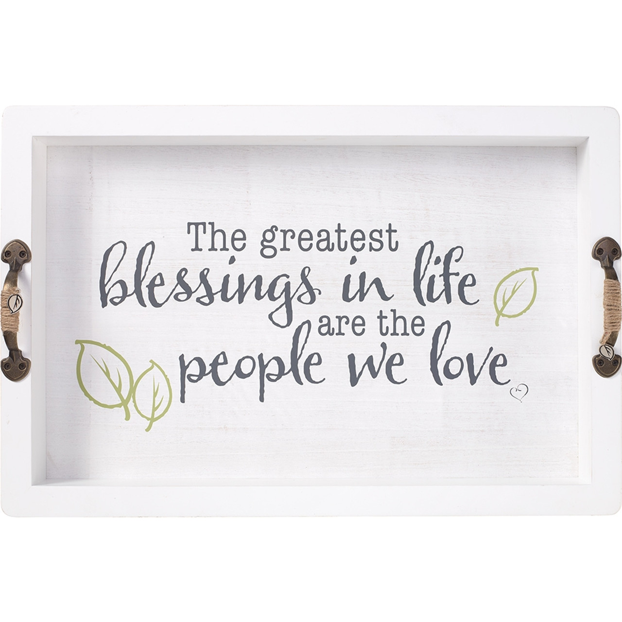Wedding Gifts The Greatest Blessings Decorative Serving Tray Wood Metal 191418