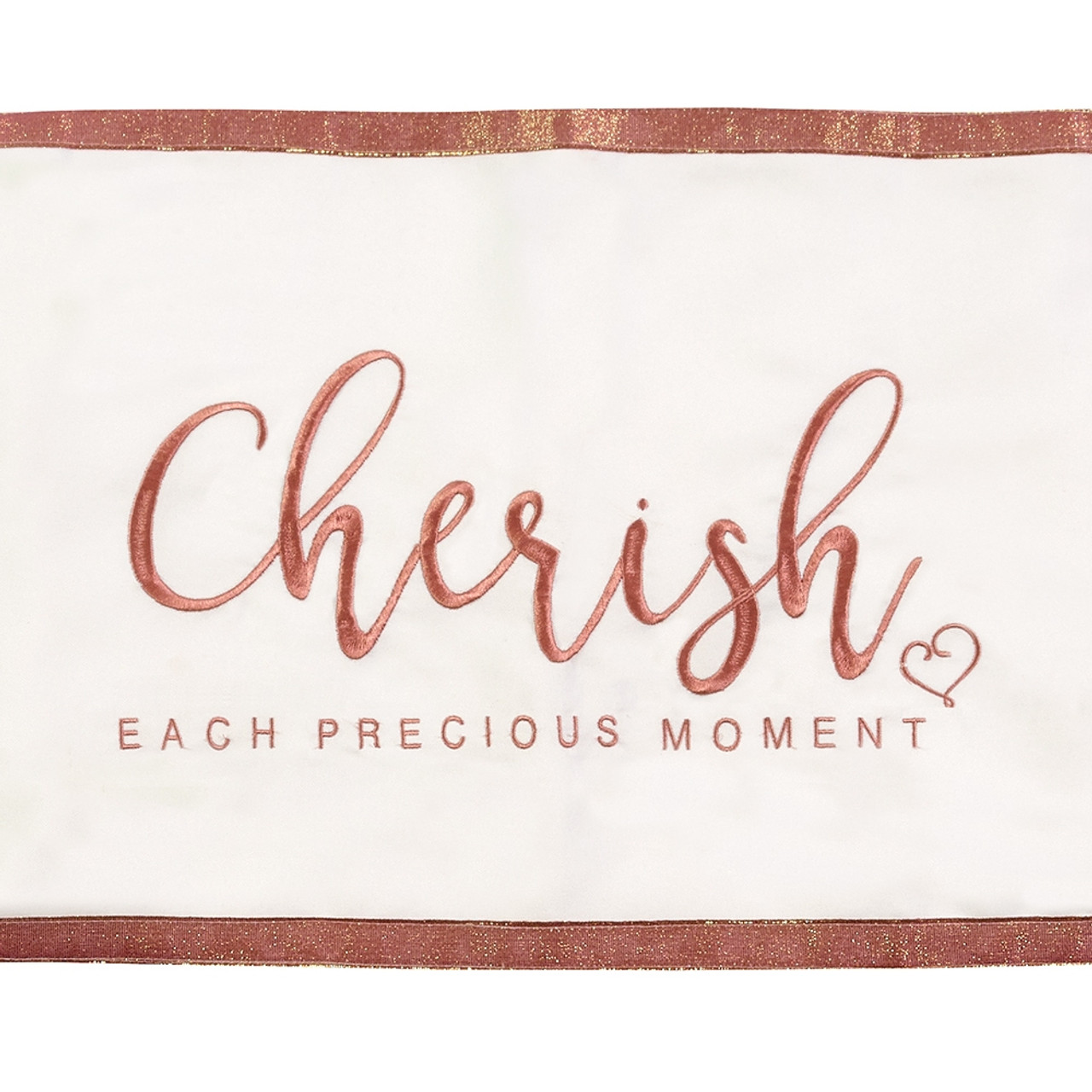 Wedding Gifts Cherish Each Precious Moment Table Runner Polyester 191442