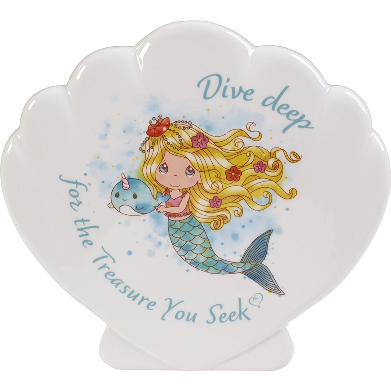 Dive Deep For The Treasure You Seek Mermaid Piggy Bank Ceramic 191480