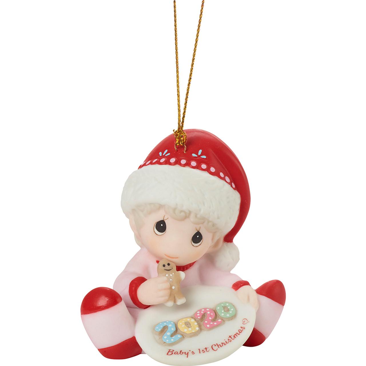$ New PRECIOUS MOMENTS Porcelain Figurine 2020 CHRISTMAS DATED Bunny Santa Girl