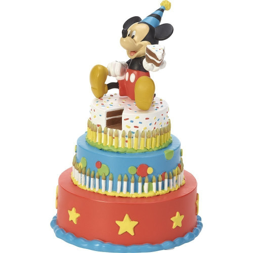 Astounding Disney Showcase Mickey Mouse Birthday Cake Led Tabletop Figurine Funny Birthday Cards Online Hendilapandamsfinfo
