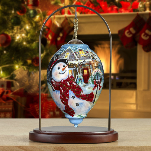 "Hand Painted, Blown Glass Ornament, ""An Old-Fashioned ..."