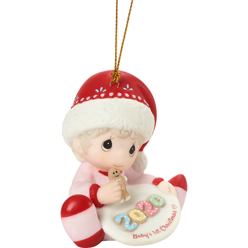 Precious Moments Babys First Christmas Ornament 2020 Precious Moments 201005 Baby's 1st Christmas 2020 Dated Girl