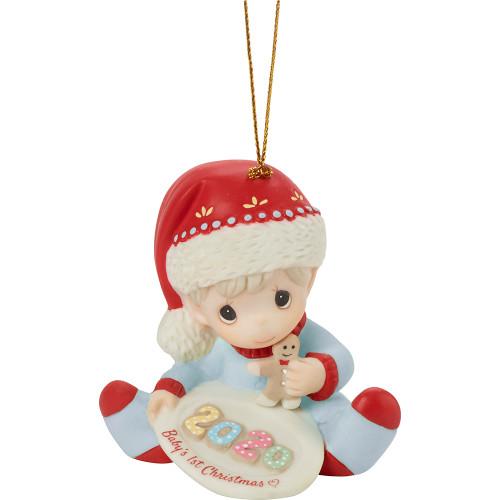 Precious Moments Babys 1st Christmas 2020 Precious Moments 201006 Baby's 1st Christmas 2020 Dated Boy Bisque