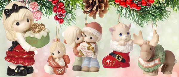 2017 Dated Christmas Ornaments And Figurines Are Available Now Precious Moments Co Inc