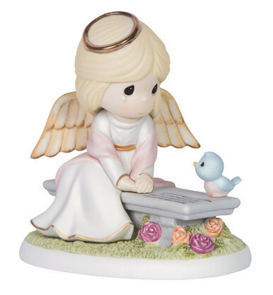 Precious Moments Bisque Porcelain Figurine, Heaven's Embrace