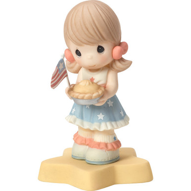 Born In The USA Porcelain Figurine, Girl