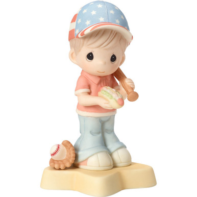 Born In The USA Porcelain Figurine, Boy