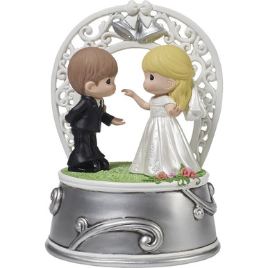 Precious Moments Resin Music Box First Dance As Mr. and Mrs. Musical