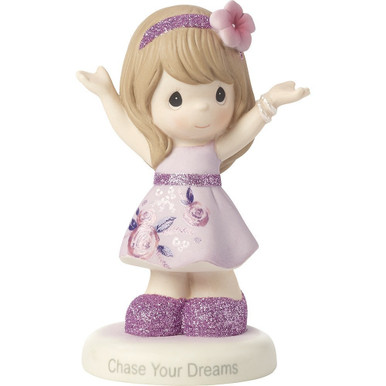 Precious Moments Bisque Porcelain Figurine, Chase Your Dreams
