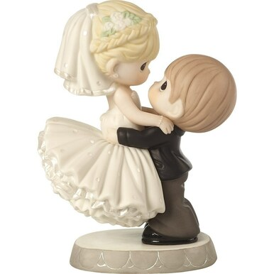 Precious Moments Bisque Porcelain Figurine, Best Day Ever, Wedding Cake Topper