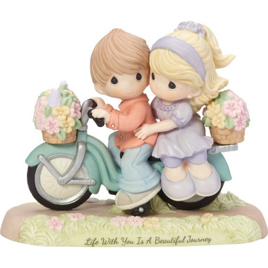 Precious Moments Bisque Porcelain Figurine, Life With You Is A Beautiful Journey